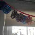 Paper Fan Flower Banner