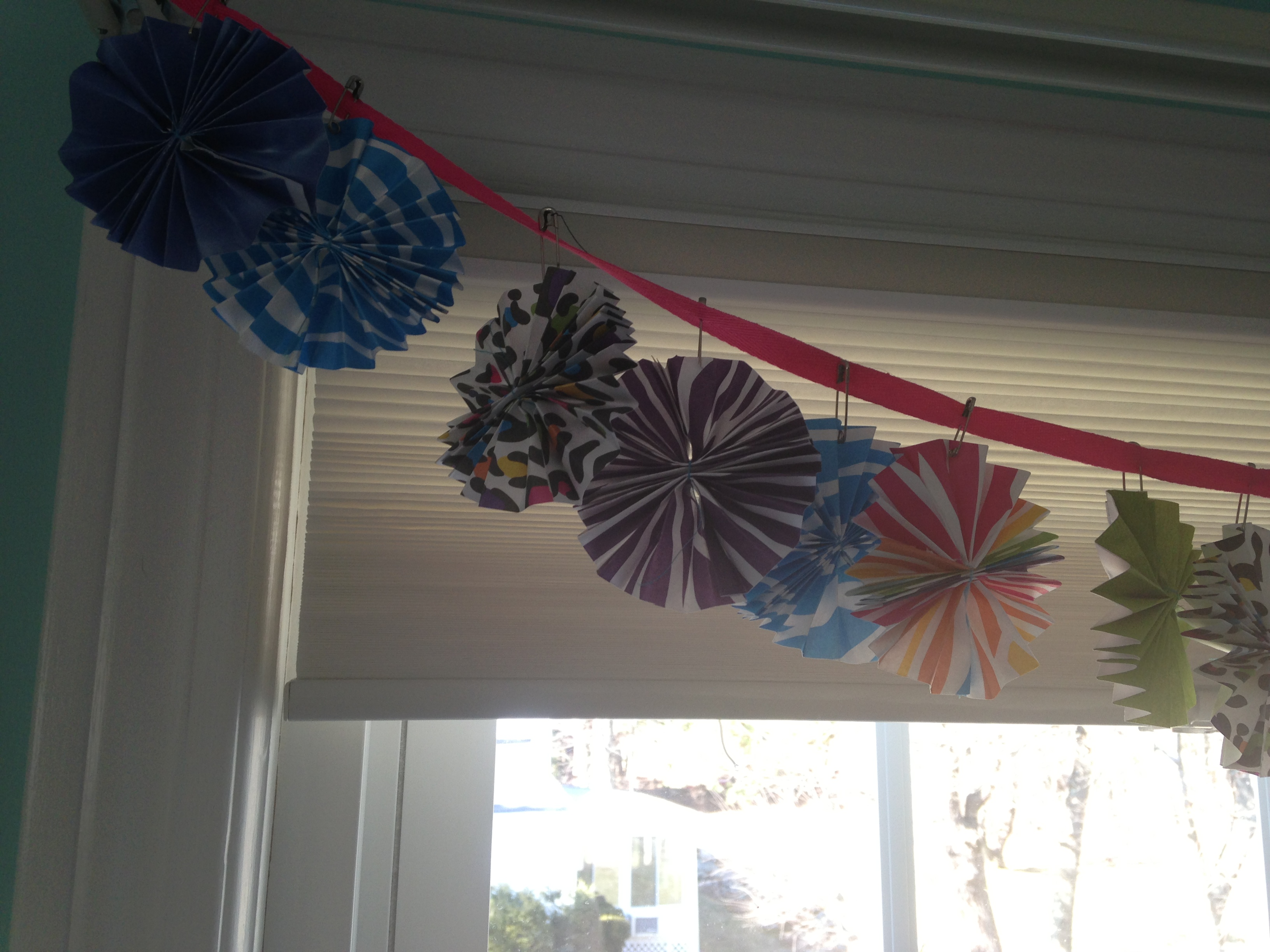 Paper Fan Flower Banner Two Clever Moms