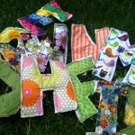 Letters: Fabric Stash Project