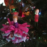 Clothes pin dolls with tutu